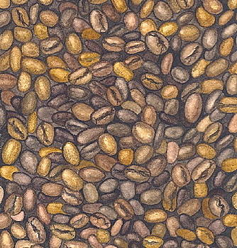 Coffee Beans by Elizabeth H Tudor