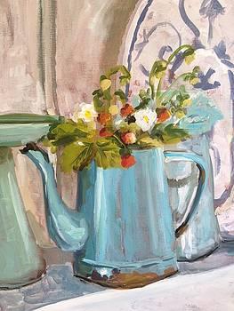 Coffee Pot Strawberries by Susan E Jones