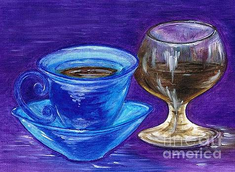 Coffee with Glass of Brandy by Teresa White