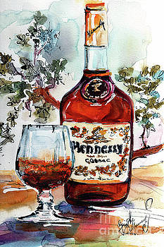 Ginette Callaway - Cognac Hennessy Bottle and Glass Still Life
