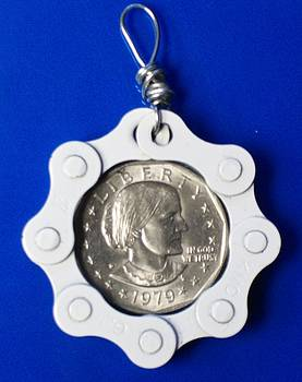 Coin in chain by Leeah Borner