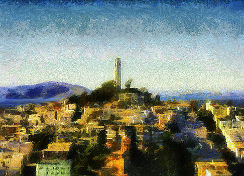 Coit Tower San Francisco by Joseph Hollingsworth