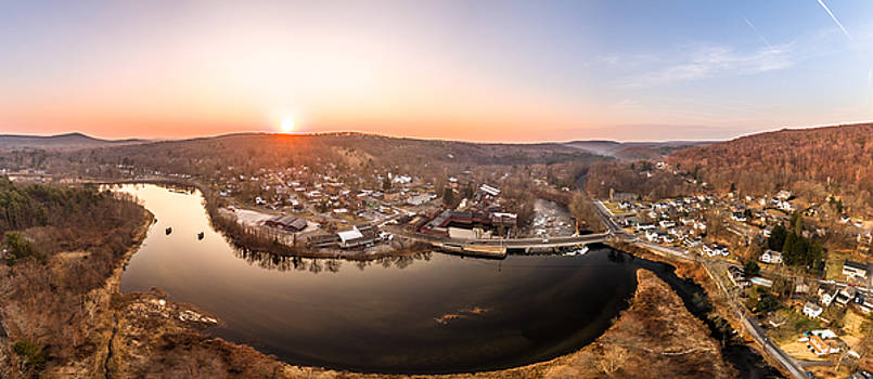 Colinsville, Connecticut Sunrise Panorama by Petr Hejl