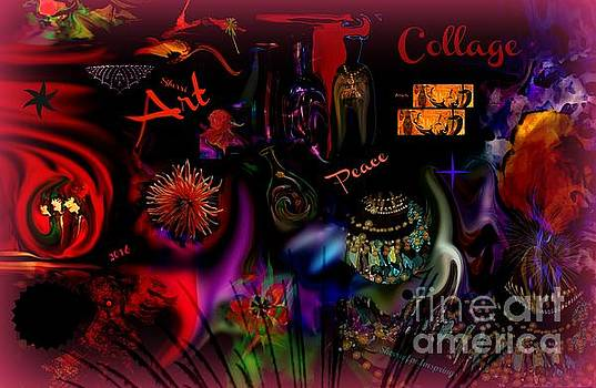 Collage Art  Art Of My Dreams by Sherri Of Palm Springs
