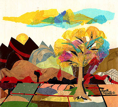 Collage Landscape 2 by Everett Spruill