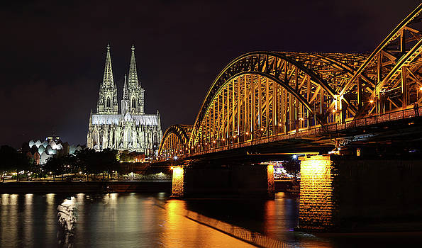 Cologne Cathedral and Bridge by Holger Ostwald
