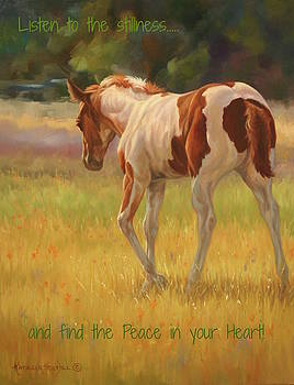 Color Foal and Quote by Kathleen Hill