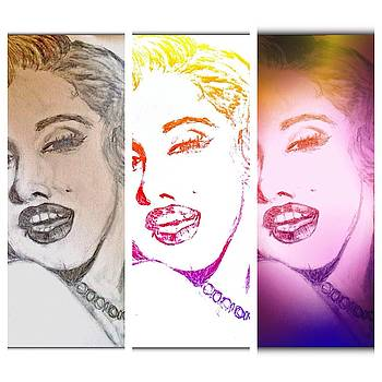 Color Rendition of Marilyn Monroe #3 by Dayna Winters