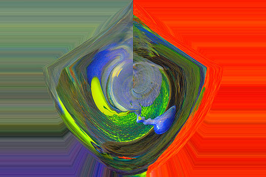 Color swirled abstract by Jeff Swan