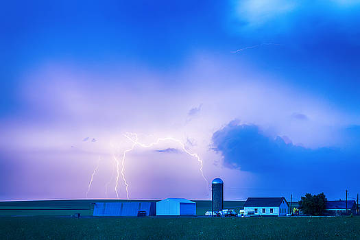 Colorado Country Lightning Storm by James BO  Insogna