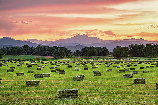 James BO Insogna - Colorado Farmers Burning Sunset