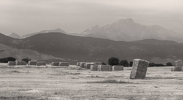 James BO  Insogna - Colorado Farming Panorama View in Black and White Pt 1