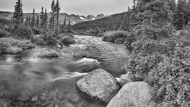 James BO  Insogna - Colorado Indian Peaks Wilderness Panorama BW
