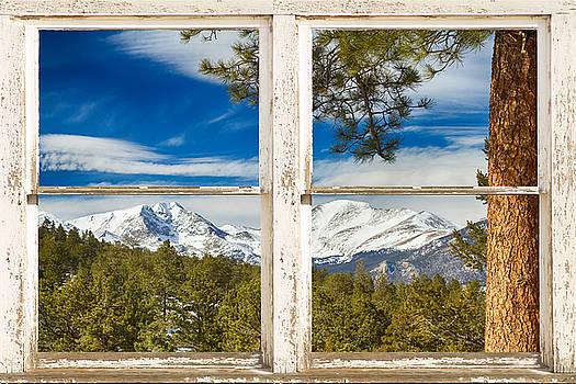 James BO  Insogna - Colorado Rocky Mountain Rustic Window View