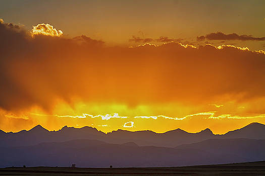 Colorado Rocky Mountains Golden September Sunset Sky by James BO  Insogna