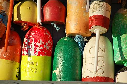 Colored Buoys by Lucia Vicari