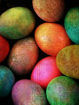 Colored Eggs by Shirley Sirois