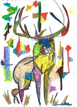 Colored Elk by Drew Eurek