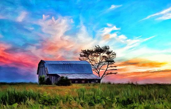 Colored Sunrise by Johanne Dauphinais