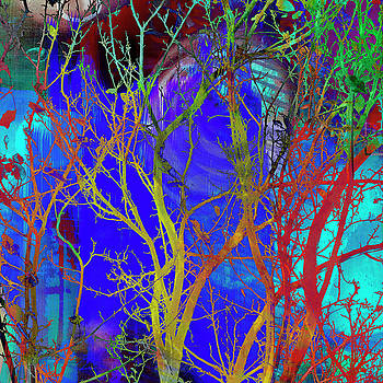 Colored Tree Branches by Susan Stone