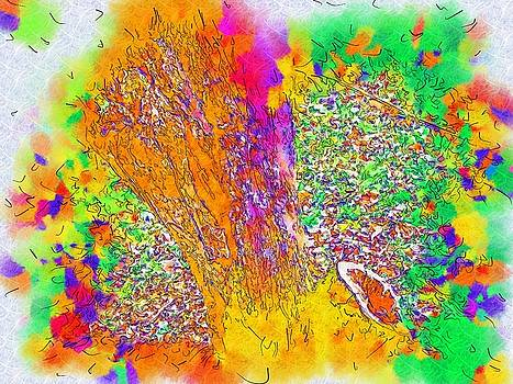 Colorful Art Tree Bark by Skyler Tipton