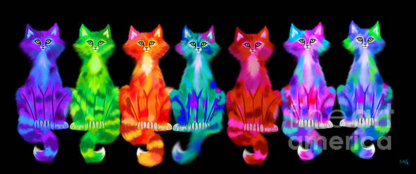 Nick Gustafson - Colorful Calico Cats
