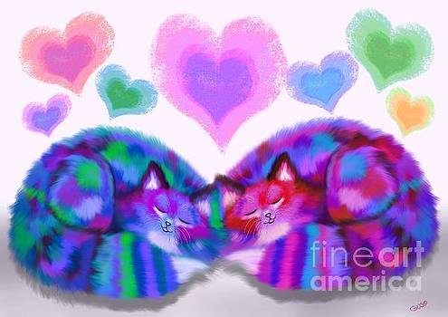 Nick Gustafson - Colorful Cats and Hearts