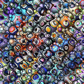 Colorful Chaotic Contours by Phil Perkins