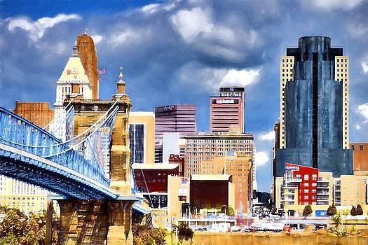 Mel Steinhauer - Colorful Cincinnati Skyline