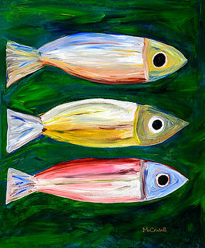 Colorful Fish Painting by Marion McCristall