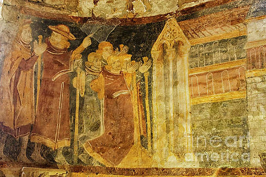 Colorful fresco in medieval church by Patricia Hofmeester