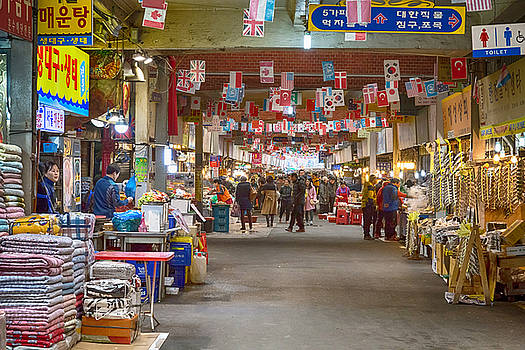 Colorful Korean Marketplace by James BO Insogna