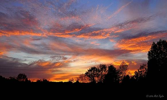 Colorful Mid April Sunset by Matt Taylor