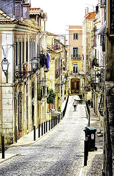 Colorful Old Street in Lisbon by Marion McCristall