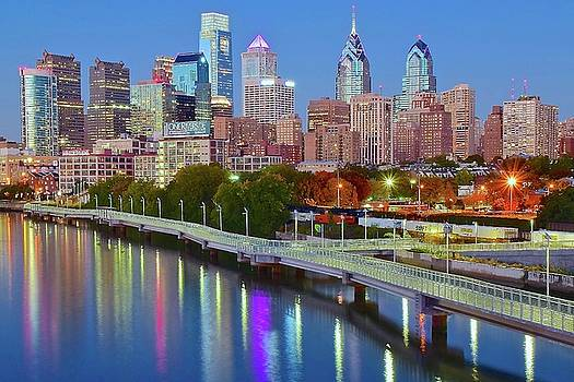 Colorful Philly Lights by Frozen in Time Fine Art Photography