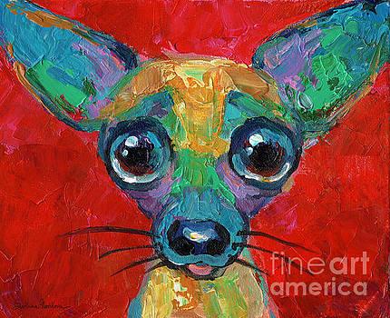 Svetlana Novikova - Colorful Pop art chihuahua painting
