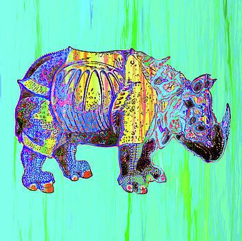 Colorful Rhino by Joy McKenzie