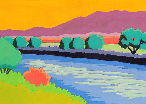 Colorful River by Candy Mayer