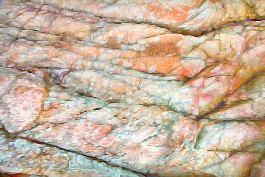 Colorful Rock Abstract by Theresa Tahara
