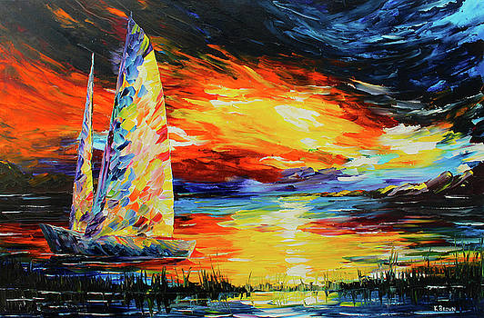 Colorful Sail by Kevin Brown