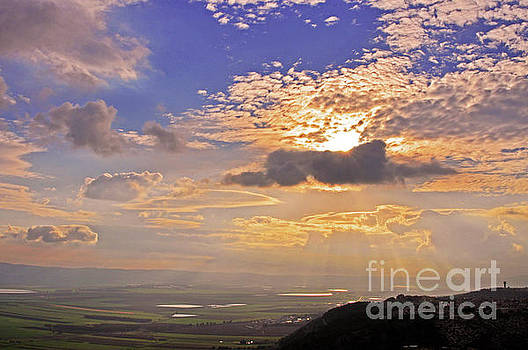 Colorful Skies Over The Jezreel Valley by Lydia Holly
