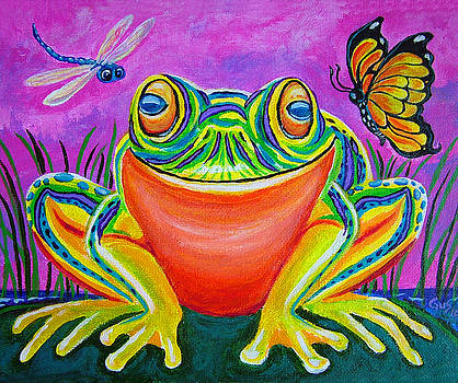 Nick Gustafson - Colorful Smiling frog-VooDoo Frog