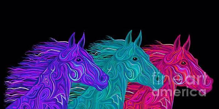 Nick Gustafson - Colorful Stallions