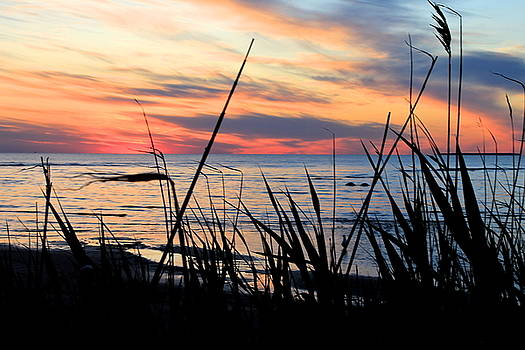 Colorful Sunset on Lake Huron by Danielle Allard