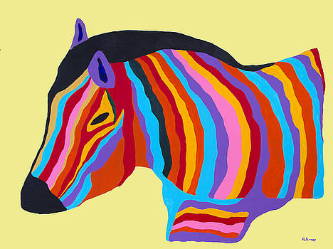 Colorful Zebra by Andrew Petras