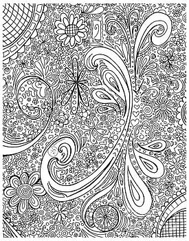 Coloring Page With Beautiful Swirls Drawing By Megan Duncanson by Megan Duncanson