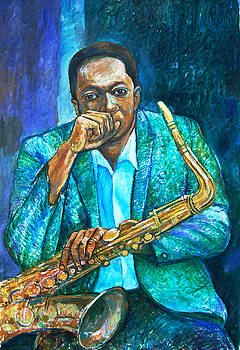 Coltrane Resting by Joe Roache