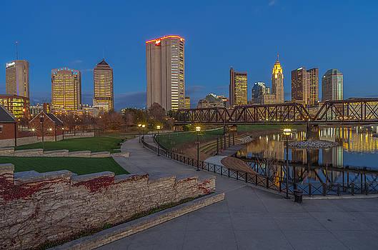 Columbus Ohio Skyline at Dusk by Scott McGuire