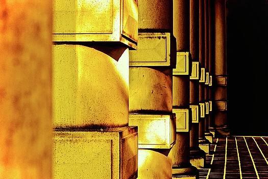 Columns Gold by Brian Sereda