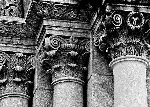 Kathleen K Parker - Columns of St. Roch Church Watercolor